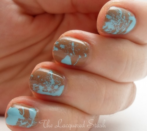Chic Splatter Nail Design for Short Nails