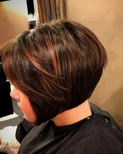 Chocolate Bob Hairstyle with Brown Highlights