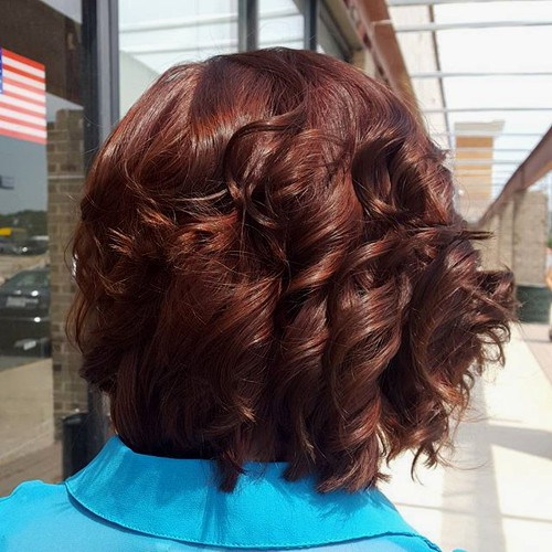 Classy Chocolate Curls for Short Hair
