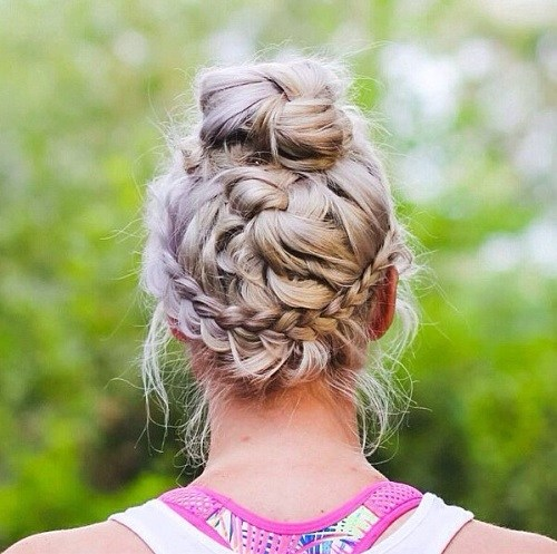 Complicated Braided Updo for Sports