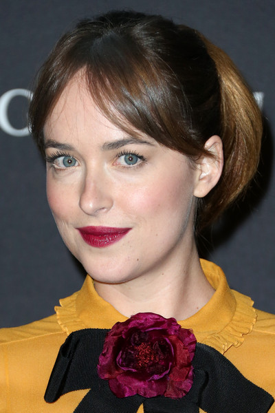 Dakota Johnson Lovely Ponytail