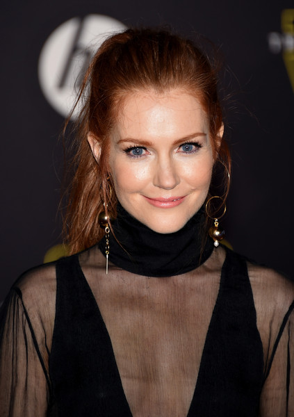 Darby Stanchfield Messy Ponytail