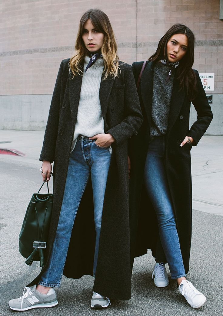 Effortless Chic Outfit Idea with Black Long Coats
