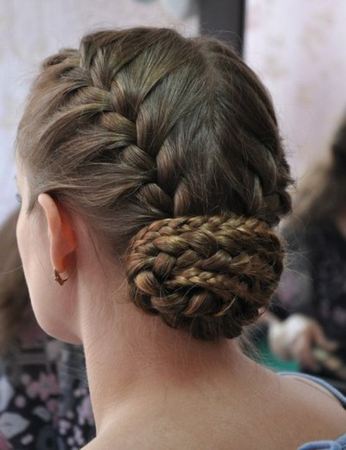 Fabulous Updo Hairstyle with French Braids
