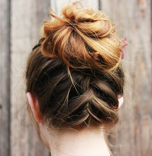 Fashionable Braided Updo for Medium Hair
