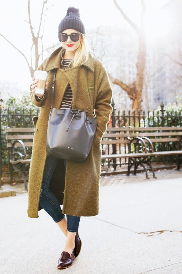 Fashionable Long Coat Outfit for Winter