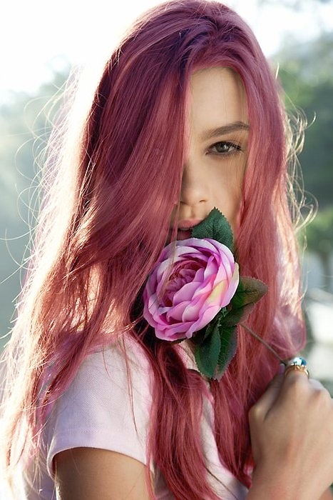 Fashionable Pink and Purple Hair Look