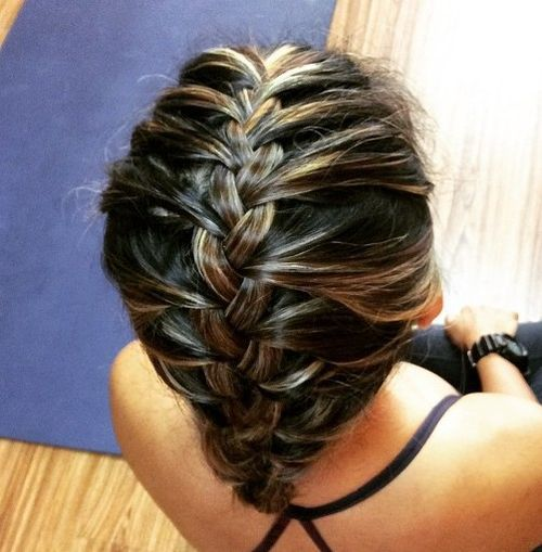 French Braided Sporty Hairstyle