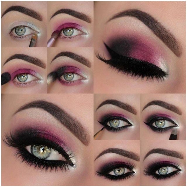 Fuchsia Eye Makeup for New Year