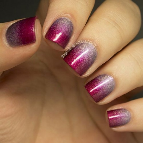 Glitter ombre nail design for short hair styles weekly glitter ombre nail design for short hair prinsesfo Image collections