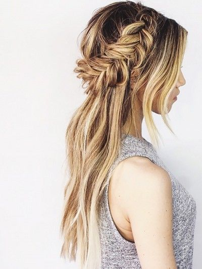 Gorgeous Braided Half Up Half Down Hairstyle