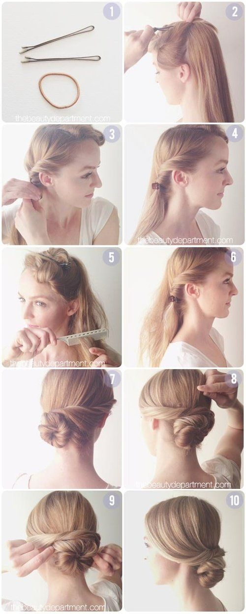 Graceful Twisted Low Bun Tutorial