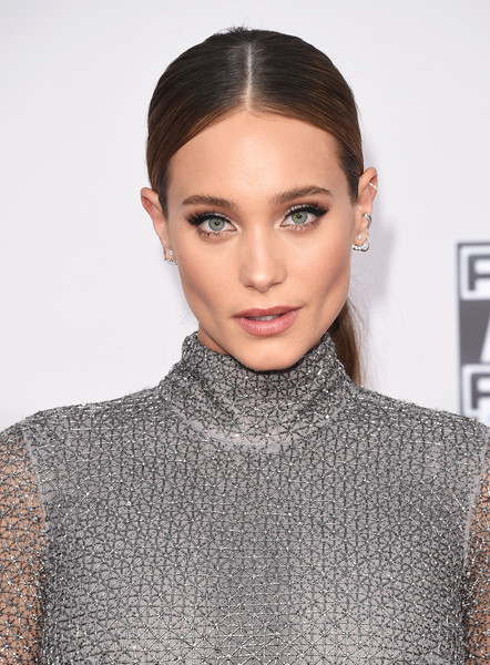 Hannah Davis Center-parted Ponytail