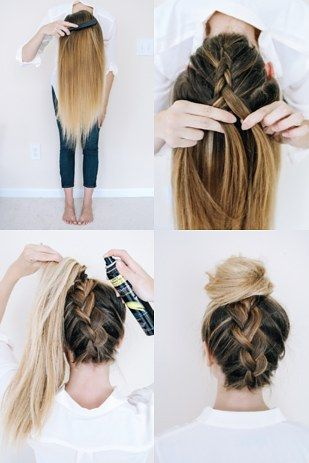 Lovely Upside Down Braided Updo Hairstyle Tutorial