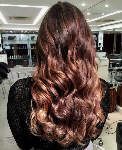 Luscious Ombre Chocolate Curly Hair