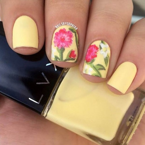 Pastel Nail Design for Short Nails