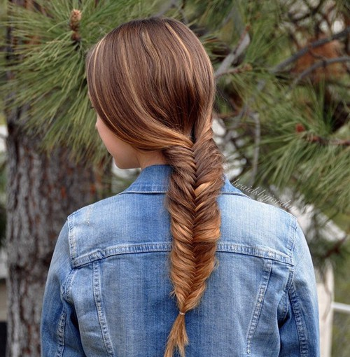 Pretty Fishtail Braid for Teenage Girls