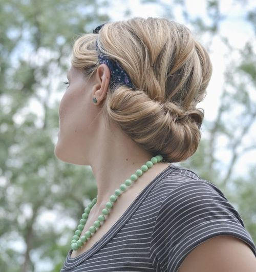Rolled Updo with A Headband