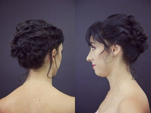 Romantic Braided Updo for Black Hair
