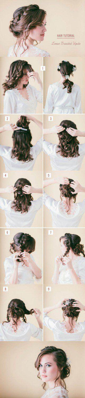 Romantic Wedding Updo Hairstyle Tutorial
