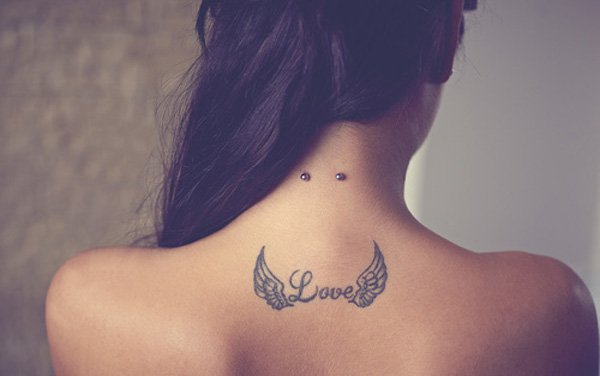 Romantic Wings Tattoo for Women