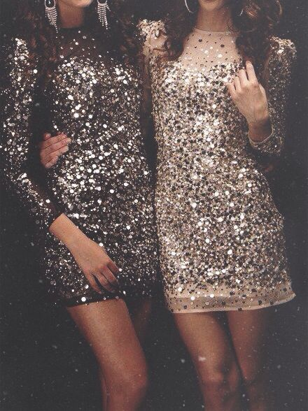 Sequined Dresses for New Year's Eve