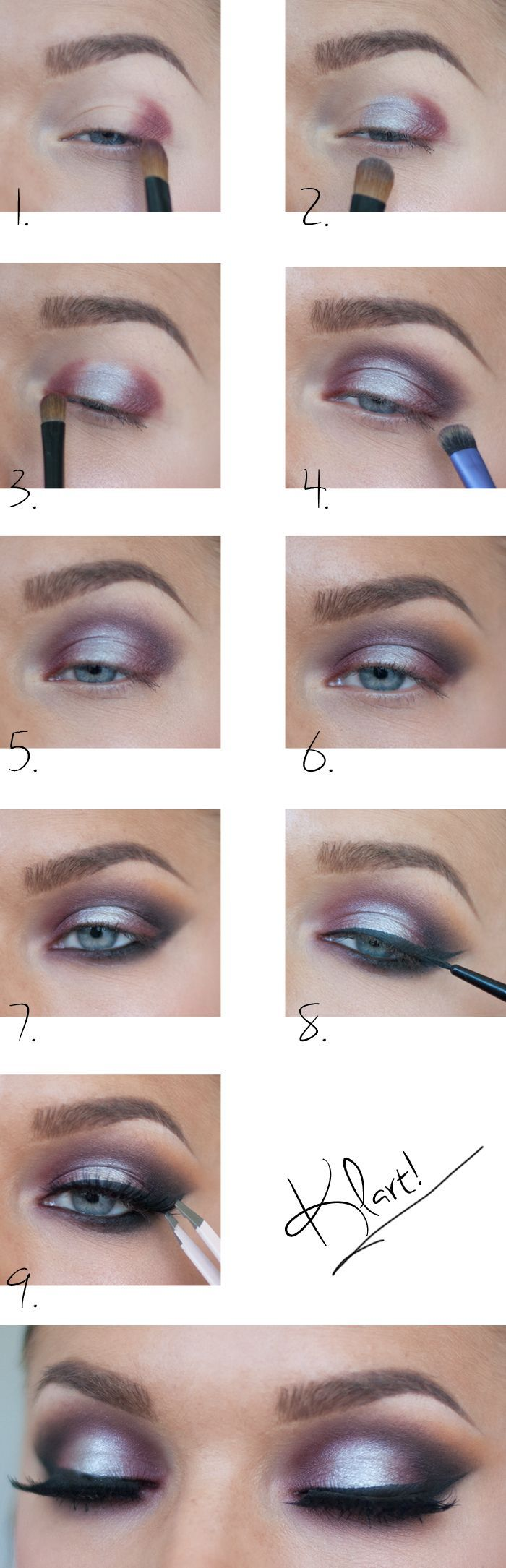 Silvery Eye Makeup Tutorial for New Year