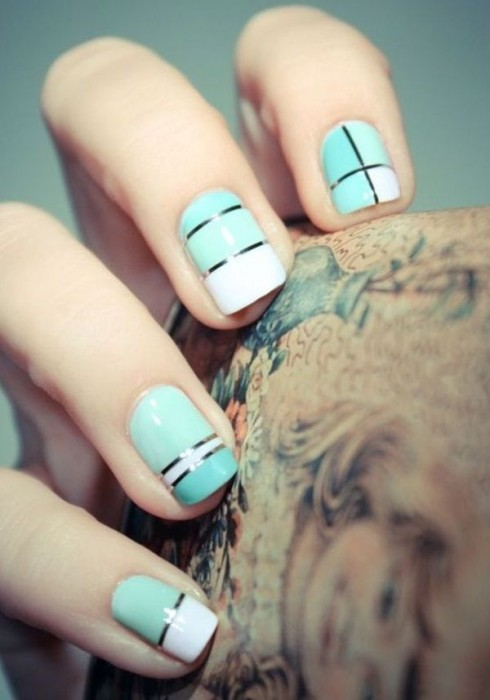 Simple Yet Stylish Nail Design for Short Nail