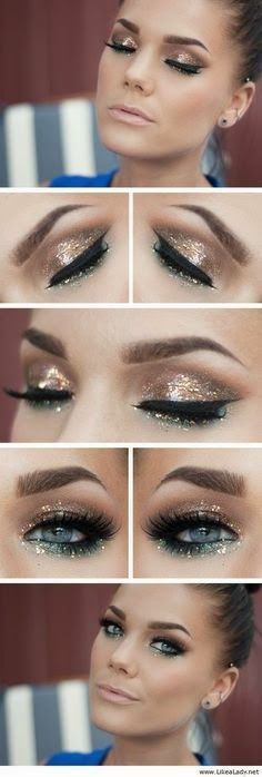 Sparkly Makeup Tutorial for New Year