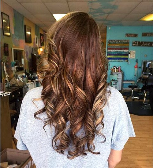 Stylish Brown Chocolate Hair with Blonde Highlights