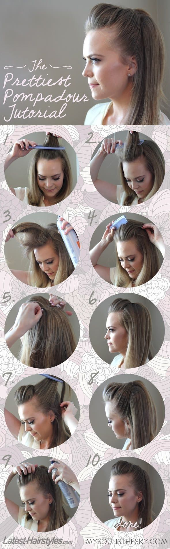 Stylish Pompadous Hairstyle Tutorial