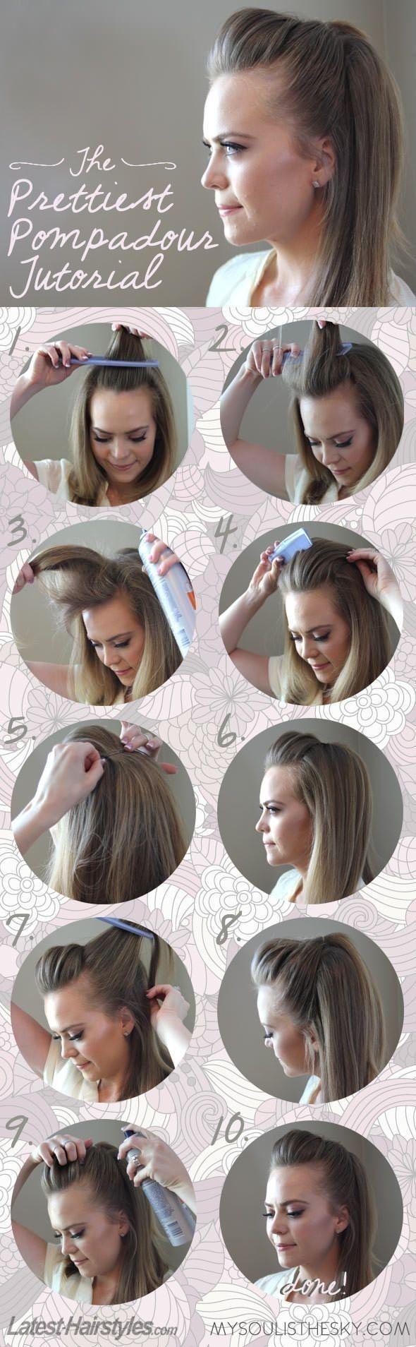 Stylish Pompadous Hairstyle Tutorial