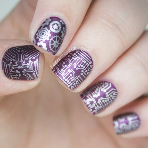 Stylish Purple Nail Design For Short Nails Styles Weekly