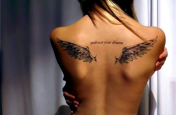 Stylish Wings Tattoo for Women
