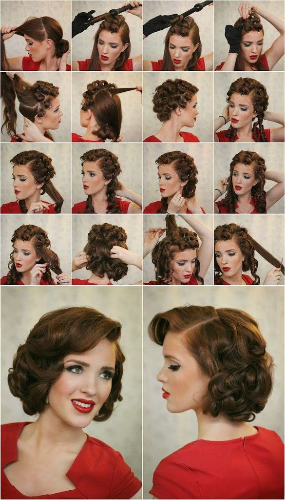 Vintage Curly Hairstyle Tutorial