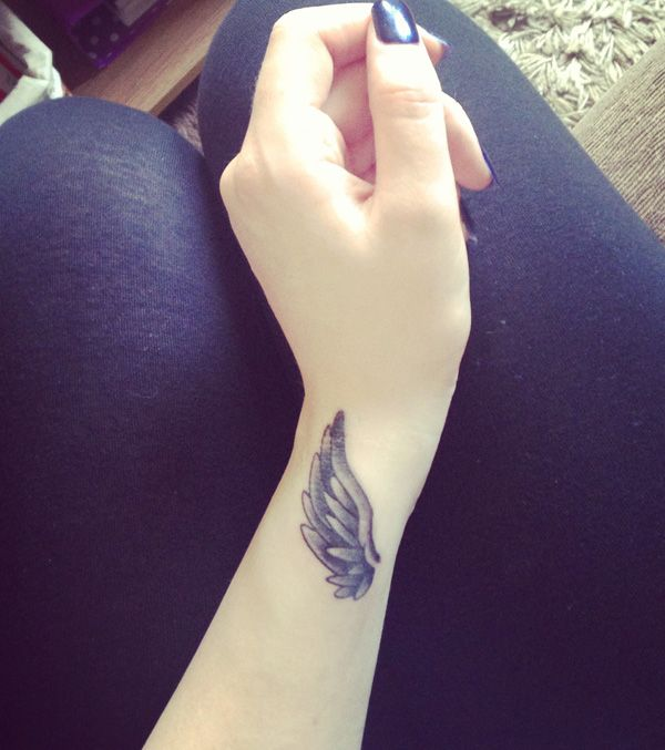 Wing Tattoo on The Wrist