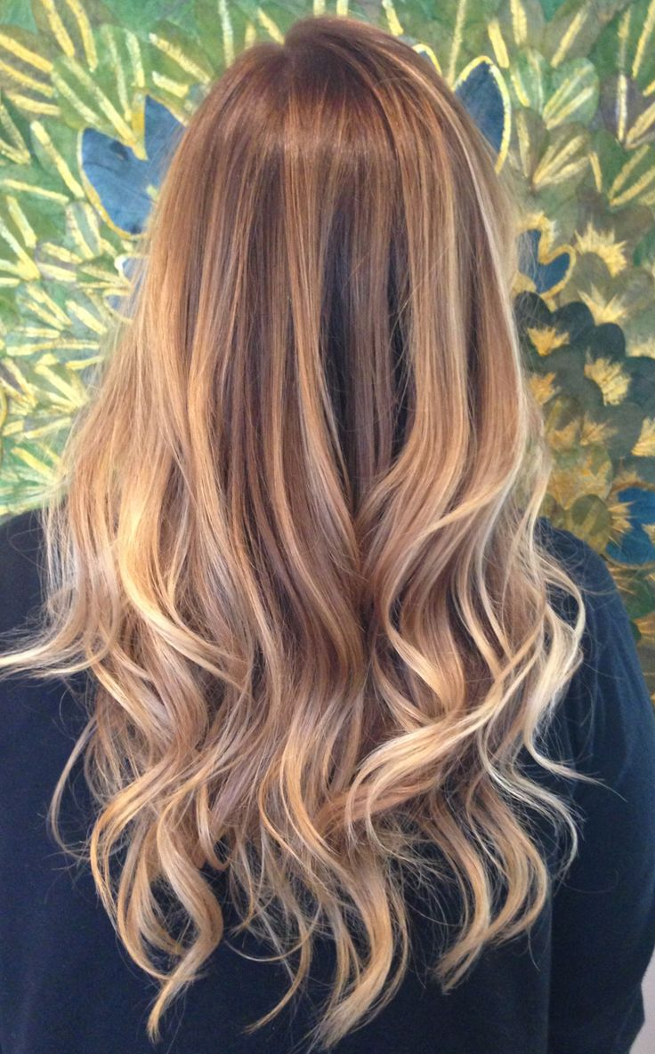 Blonde Balayage for Long Curly Hair