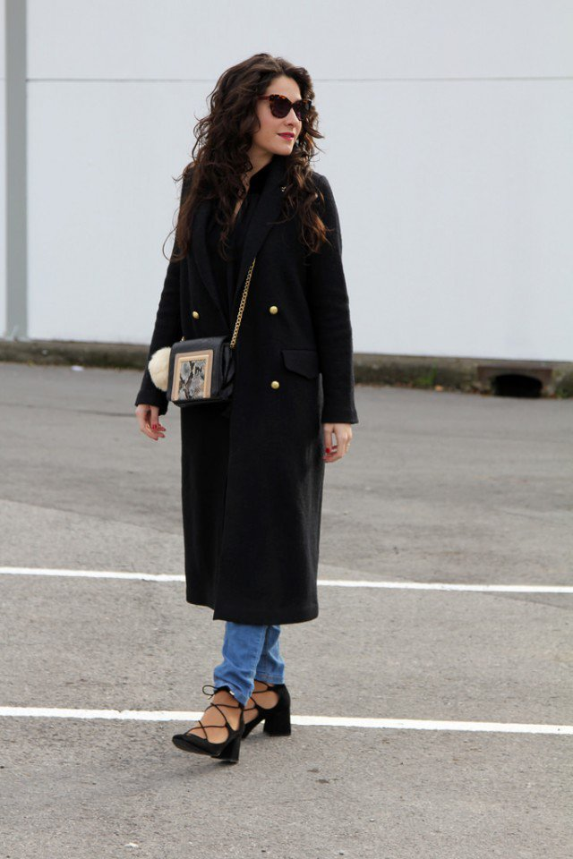 Stylish Long Coat with Jeans for Women
