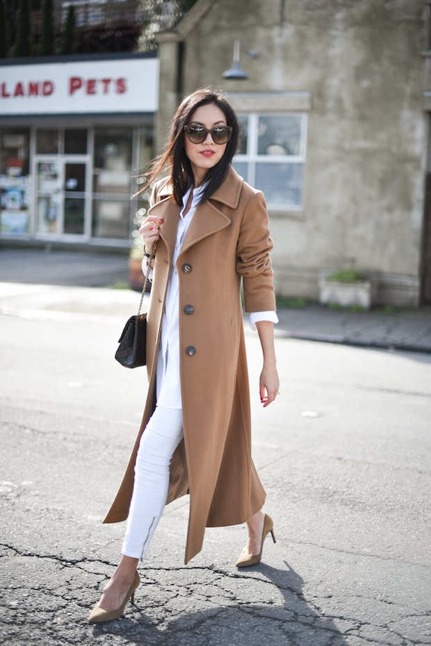 Effortless Khaki Long Coat Outfit