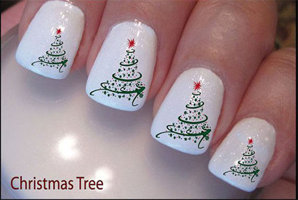 simple christmas nail design nail
