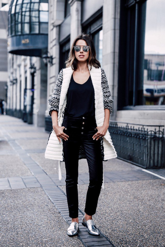 Chic Velvet Pants Outfit Idea