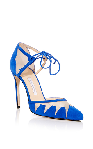 electric blue shoe pumps