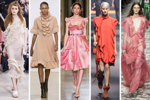 srping 2016 fashion trends: pink ruffles on dresses