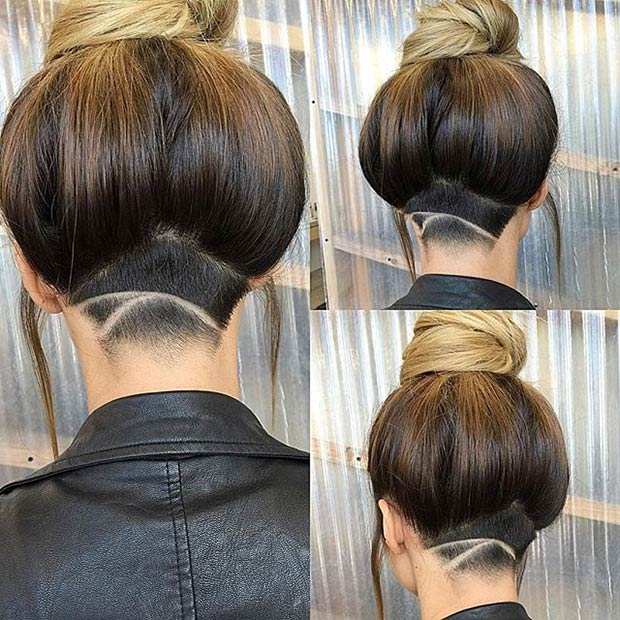 Stunning Undercut Hairstyle for Long Hair