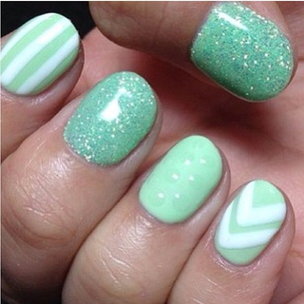 17 Fashionable Mint Nail Designs For Summer
