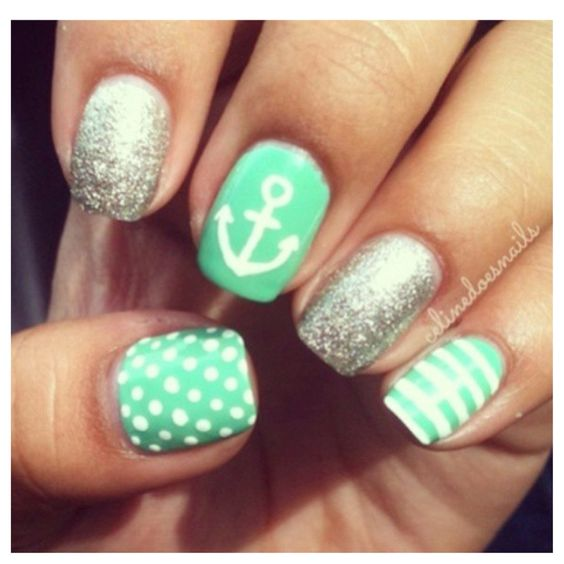 Mint Green Prom Nail: 17 Fashionable Mint Nail Designs For Summer