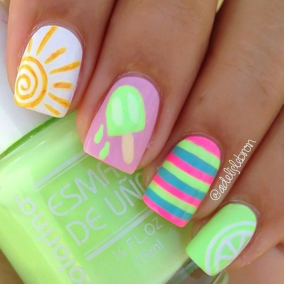 Adorable Summer Nail Design. Nail - 20 Hot And Chic Summer Nail Designs To Try Styles Weekly