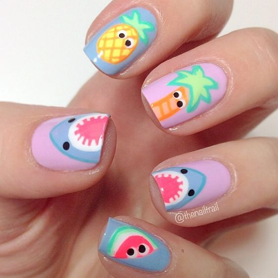 20 Best Summer Nail Art Designs That Are Easy To Design: 20 Hot And Chic Summer Nail Designs To Try