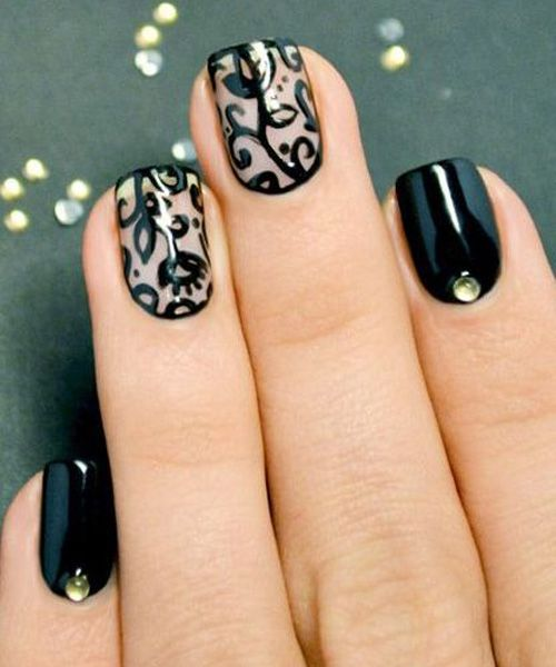 Nail Art For Prom: 18 Vintage Floral Nail Designs You Will Love