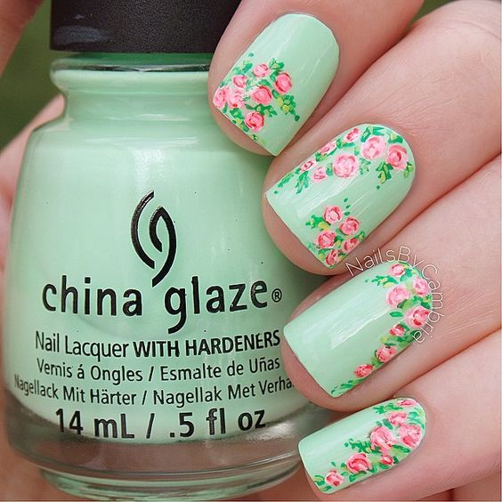 18 Vintage Floral Nail Designs You Will Love | Styles Weekly